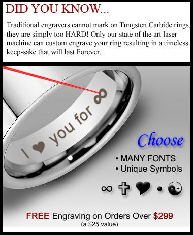 TRINITY Raised Center with Engraved Crosses Mens Tungsten