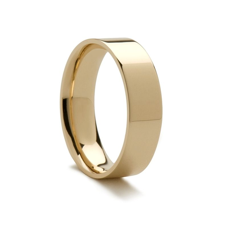 14k Yellow Gold Women's Polished Flat Ring