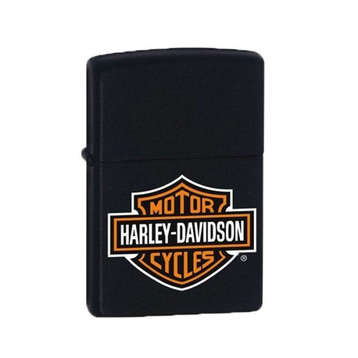 Zippo Lighter Harley Davidson Black Matte Classic Engravable Grooms Gift USA