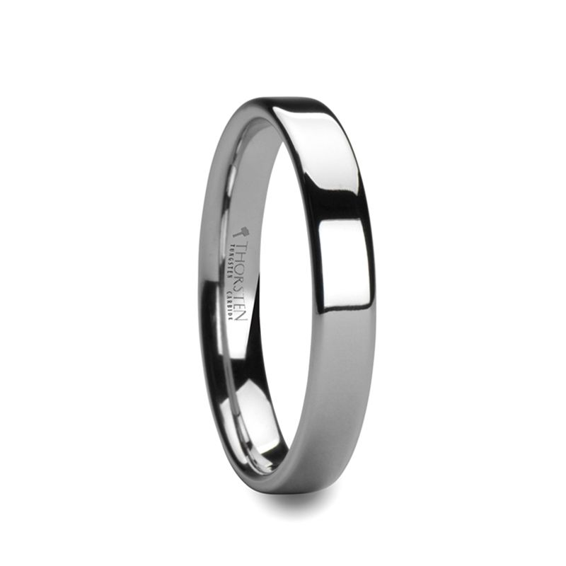 CALEDONIA Flat Polish Finished Cobalt Chrome Ring for Men and Women - 4 mm - 8 mm