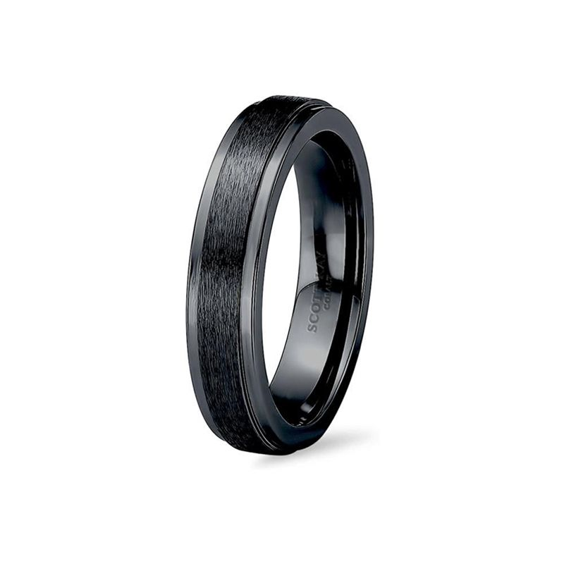 Black Cobalt Wedding Ring for Men From the Prime Collection by Scott Kay - 7 mm