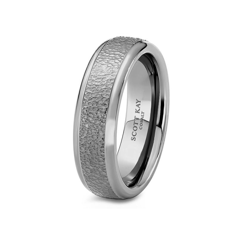 White Cobalt Mens Wedding Band From the Prime Collection by Scott Kay - 7 mm