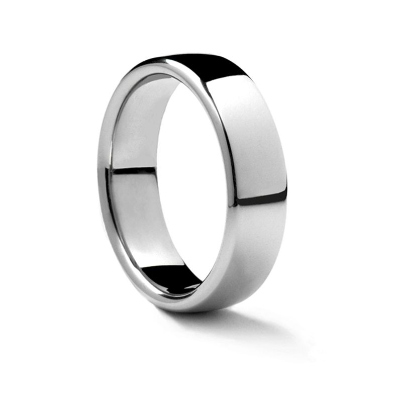 Euro Domed Platinum Ring by Benchmark - 3.5 mm - 7.5 mm