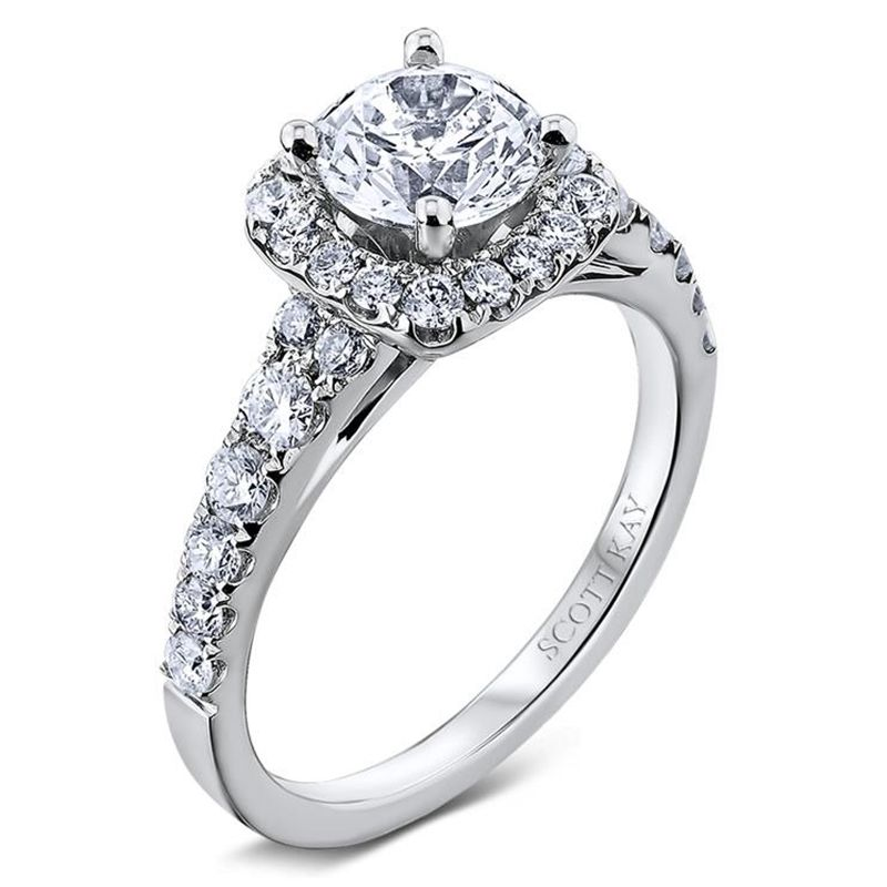 14kt White Gold (H/SI) Ladies Engagement Ring From the TiaraCollection by Scott Kay