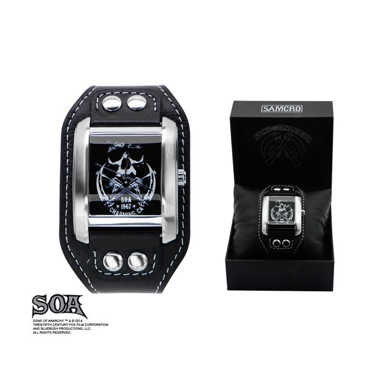 Sons of Anarchy Stainless Steel Skull Design Watch with Leather Band
