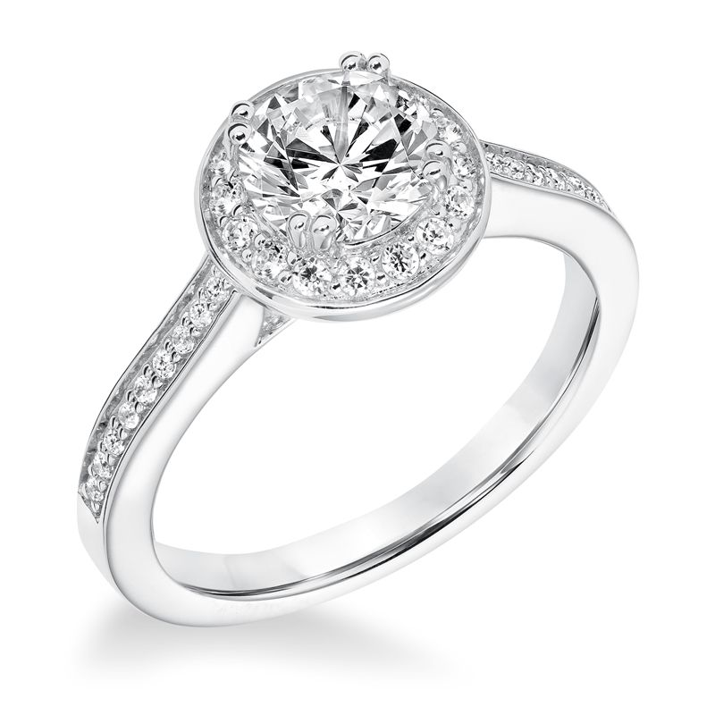 DUCHESS Halo Diamond Engagement Ring Accents