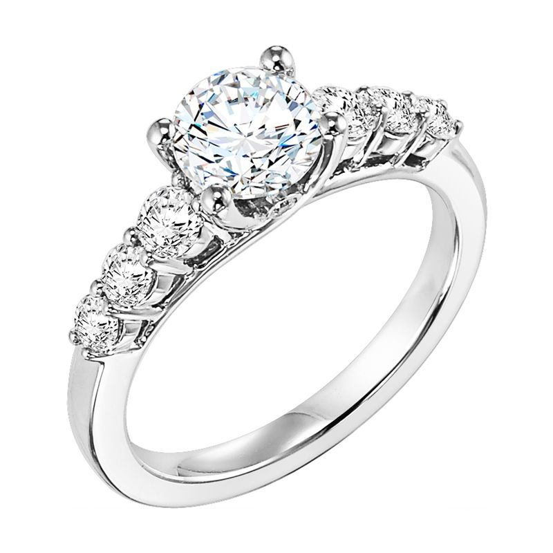 ETERNAL Diamond Engagement Ring With Large Accent Diamonds