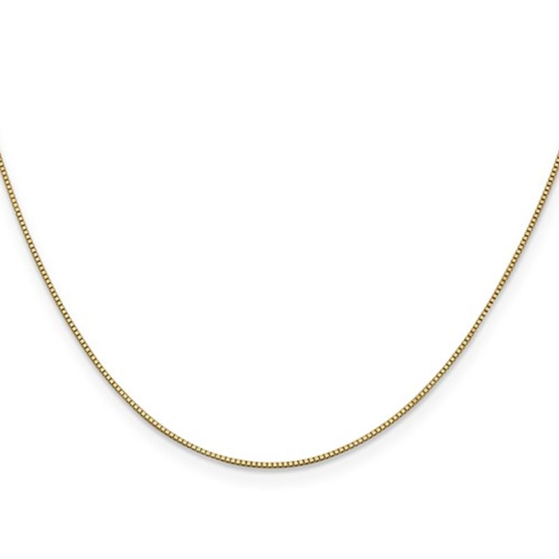 14k Yellow Gold 0.7mm Lovely Box Chain - 14in