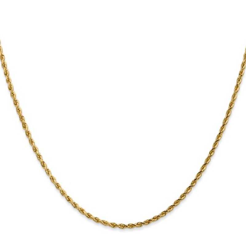 14k Yellow Gold 0.5mm Carded Cable Rope Chain - 13in