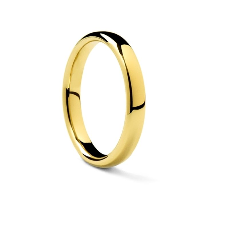 14k Yellow Gold Euro Domed Wedding Band by Benchmark - 6.5 mm