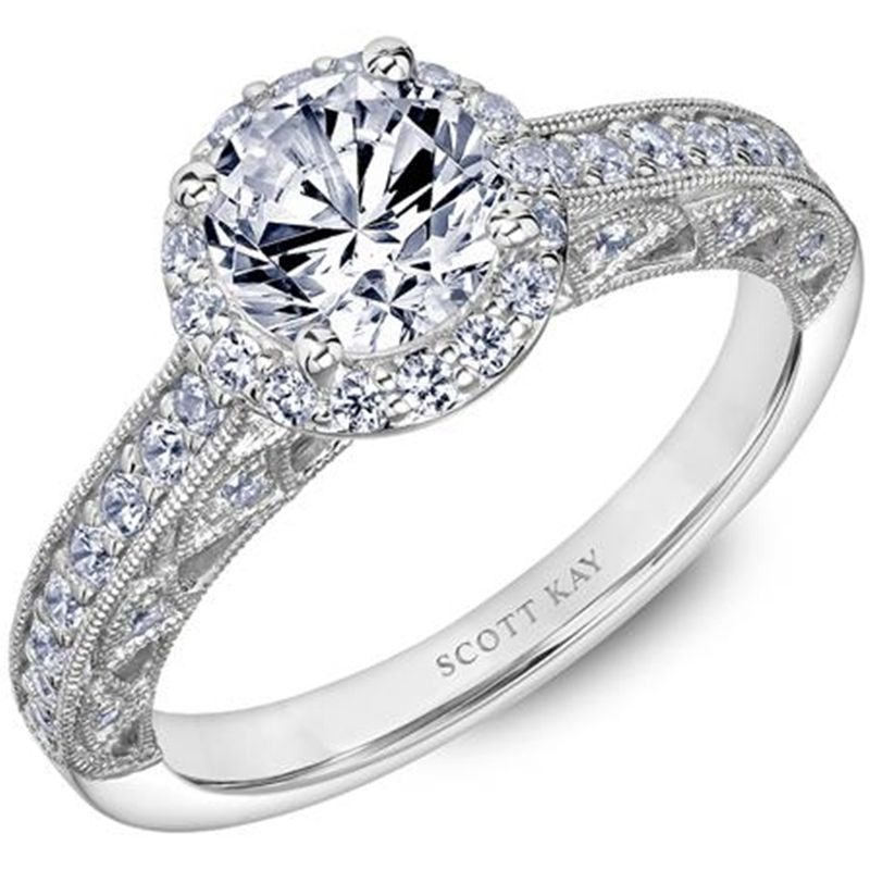14kt-white-gold-beauty-ladies-engagement-ring-with-a-round-diamond-halo-and-diamond-shank-with-milgrained-diamond-arches-in-the-gallery-by-scott-kay