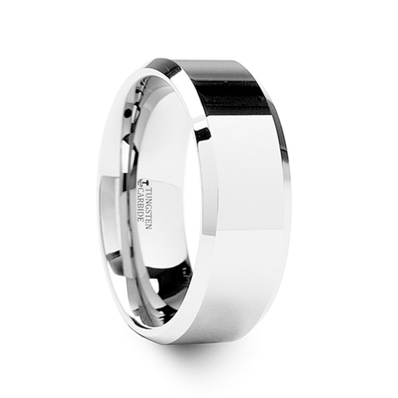CORINTHIAN Beveled Tungsten Carbide Ring - 4mm - 12mm