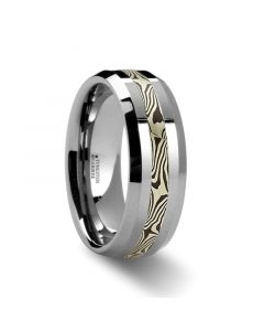 GUNNAR Unique Mokume Gane Tungsten Wedding Band - 6mm & 8mm