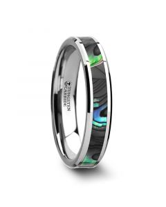 MAUI Tungsten Wedding Band with Mother of Pearl Inlay - 4mm