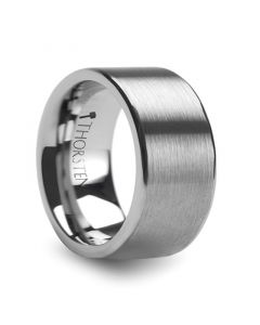 MERCURY Flat Brush Finish Tungsten Wedding Ring - 12mm