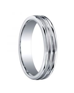 CHESAPEAKE Triple Grooved Silver Wedding Band by Benchmark - 5mm - 9mm