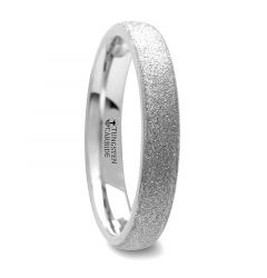 QUARTZ Domed Tungsten Carbide Ring with Sandblasted Crystalline Finish - 2mm - 8mm