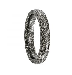 GEMELLE Titanium Ring with Timoku Design by Edward Mirell - 4 mm