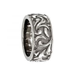 ARSENIUS Titanium Ring with Casted Pattern by Edward Mirell - 11 mm