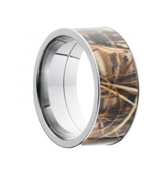 EIJI Titanium Ring with Oak Camo Inlay by Lashbrook Designs - 10mm