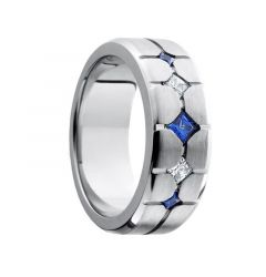 GENJI Colbalt Sapphire Diamond Inlay by Lashbrook Designs -8mm