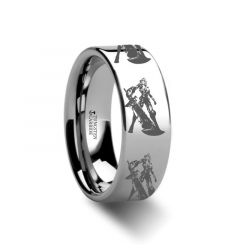 Riven The Exile Tungsten Engraved Ring League of Legends Jewelry - 4mm - 12mm
