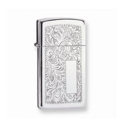 Zippo Lighter Venetian High Polish Chrome Engravable Grooms Gift USA