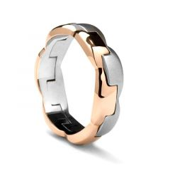 Rose Gold & White Gold Ring by Sossi - 7mm