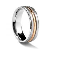 Raised Matte Center with Rose Gold Inlay by Sossi - 7mm