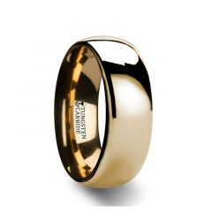 ORO Traditional Domed Gold-Plated Tungsten Carbide Wedding Ring - 4mm - 10mm
