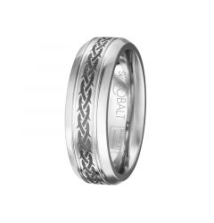 White Cobalt Mens Wedding Ring From the Native Collection by Scott Kay - 7 mm