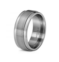 White Cobalt Wedding Band for Men From the Prime Collection by Scott Kay - 9 mm