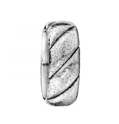 White Cobalt Mens Wedding Band From the Braid Collection by Scott Kay - 9 mm
