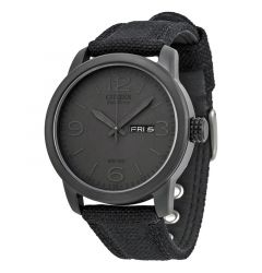 Men's Strap Black Dial Water Resistant Eco Drive Watch by Citizen