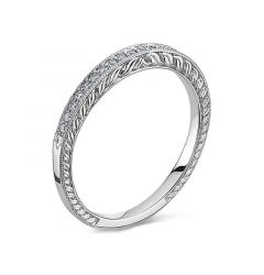 14kt White Gold (H/SI) Ladies Wedding Band From the Luminaire Collection by Scott Kay