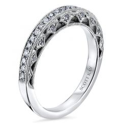 14kt White Gold (H/SI) Ladies 0.25CT Eternity Wedding Band from the Heaven's Gates Collection by Scott Kay