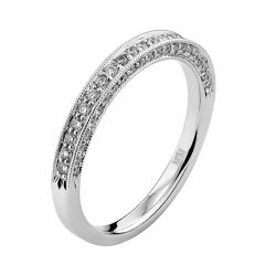 14kt White Gold (H/SI) Ladies Wedding Band From the Tiara Collection by Scott Kay