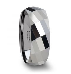 ETERNITY Multi Faceted Tungsten Carbide Band - 4mm - 8mm