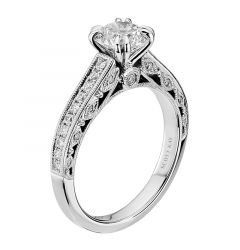 14kt White Gold (H/SI) Womens Engagement Ring From the Dream Collection by Scott Kay