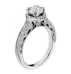 14kt White Gold (H/SI) Beauty Ladies Engagement Ring From the Dream Collection by Scott Kay