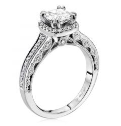 14kt White Gold (H/SI) Queen Ladies Engagement Ring From the Dream Collection by Scott Kay