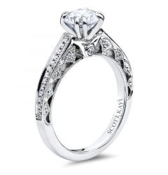 14kt White Gold (H/SI) Ladies Engagement Ring From the Luminaire Collection by Scott Kay