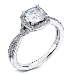 14kt White Gold (H/SI) Ladies Engagement Ring From the Unity Collection by Scott Kay