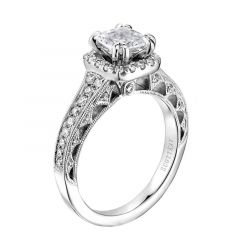 14kt White Gold (H/SI) Ladies Engagement Ring From the Radiance Collection by Scott Kay