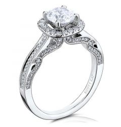14kt White Gold (H/SI) Ladies Engagement Ring From the Heaven's Gates Collection by Scott Kay