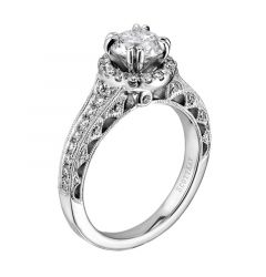 14kt White Gold (H/SI) Ladies Engagement Ring From the Silhouette Collection by Scott Kay