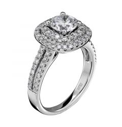14kt White Gold (H/SI) Ladies Engagement Ring From the Tiara Collection by Scott Kay