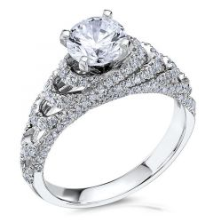 14kt White Gold (H/SI) Ladies Engagement Ring From the The Crown Collection by Scott Kay