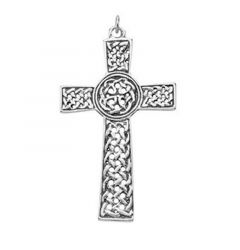 "Celtic Cross Necklace Sterling Silver Pendant18"" Sterling Chain"