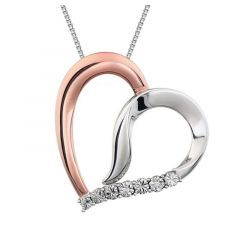".02 CTW Diamond Heart 18"" Necklace"